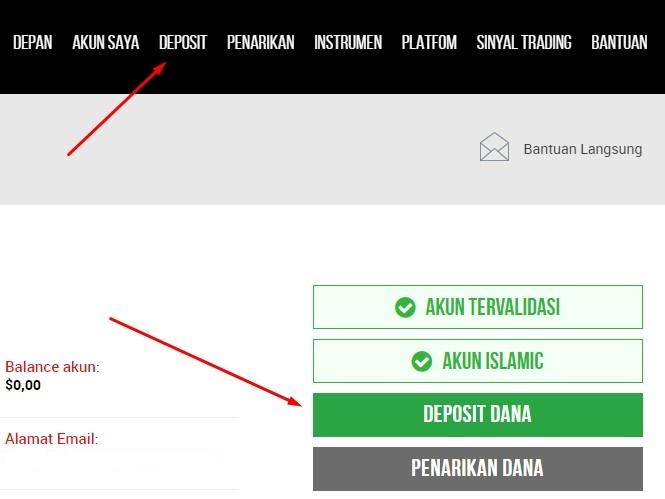 cara deposit di XM Indonesia