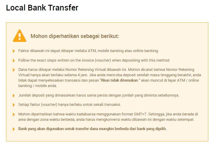 yang harus diperhatikan saat deposit bank lokal XM