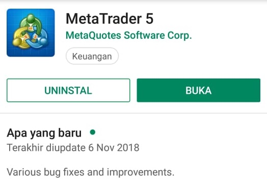 MetaTrader 5 di Play Store Google Android
